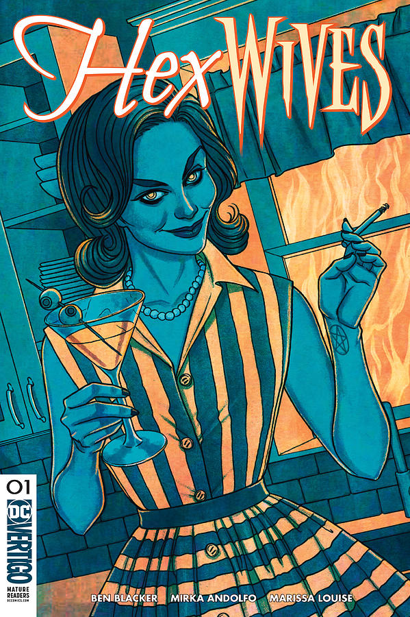 Movie Digital Art - Hex Wives 1  Dc by Geek N Rock