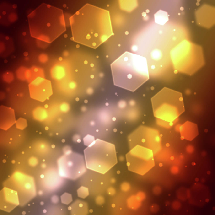 Hexagon Abstract Background With Soft Digital Art by Chad Baker