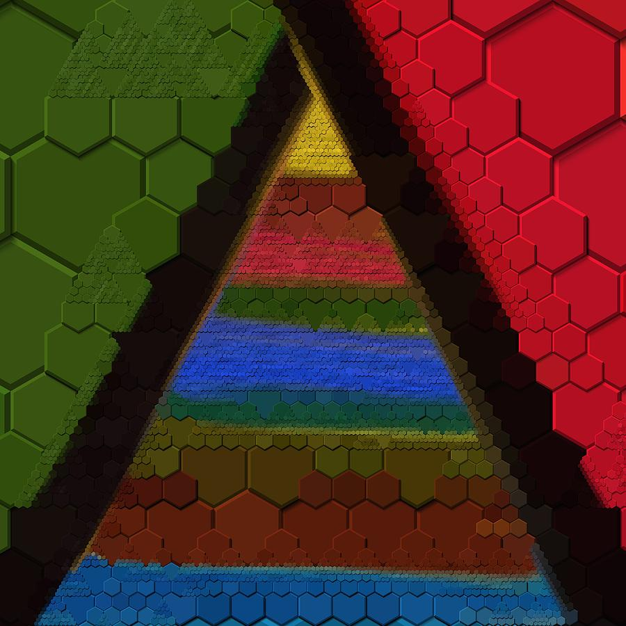 Hexagon  Geometric Art by Sheila Mcdonald