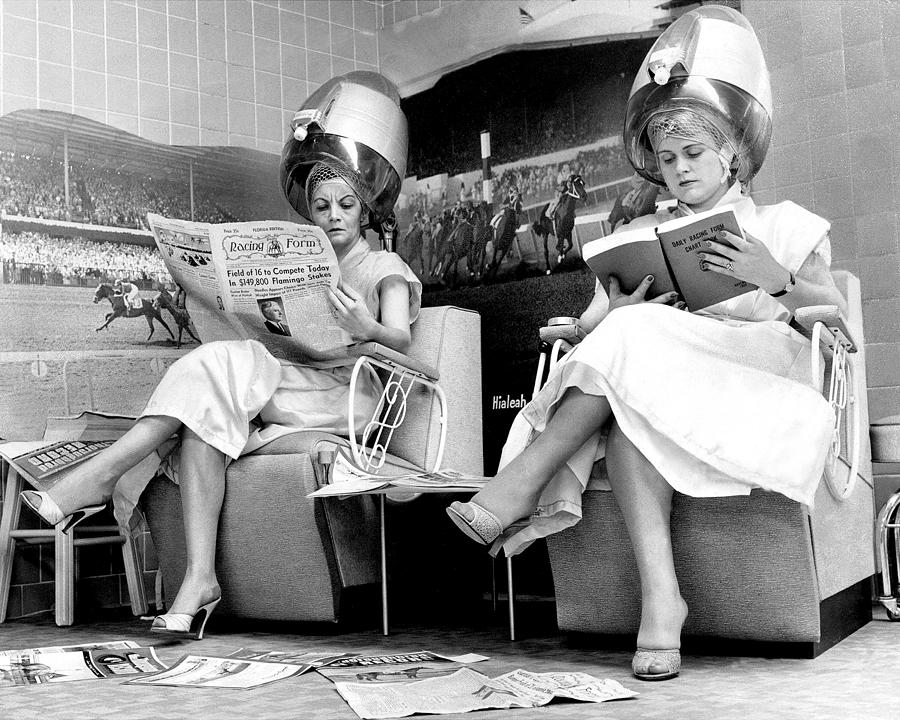 Hialeah Beauty Parlor Customers Scorn Photograph by New York Daily News Archive