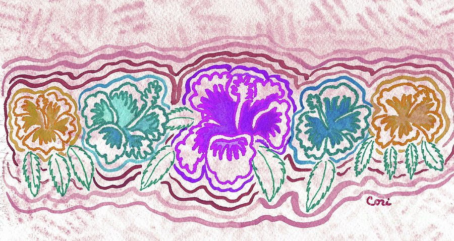 Hibiscus 1003 by Corinne Carroll