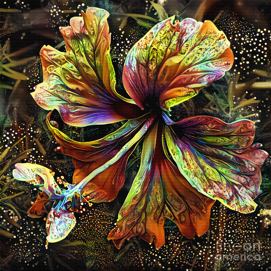 Hibiscus Art 2 by Kaye Menner by Kaye Menner