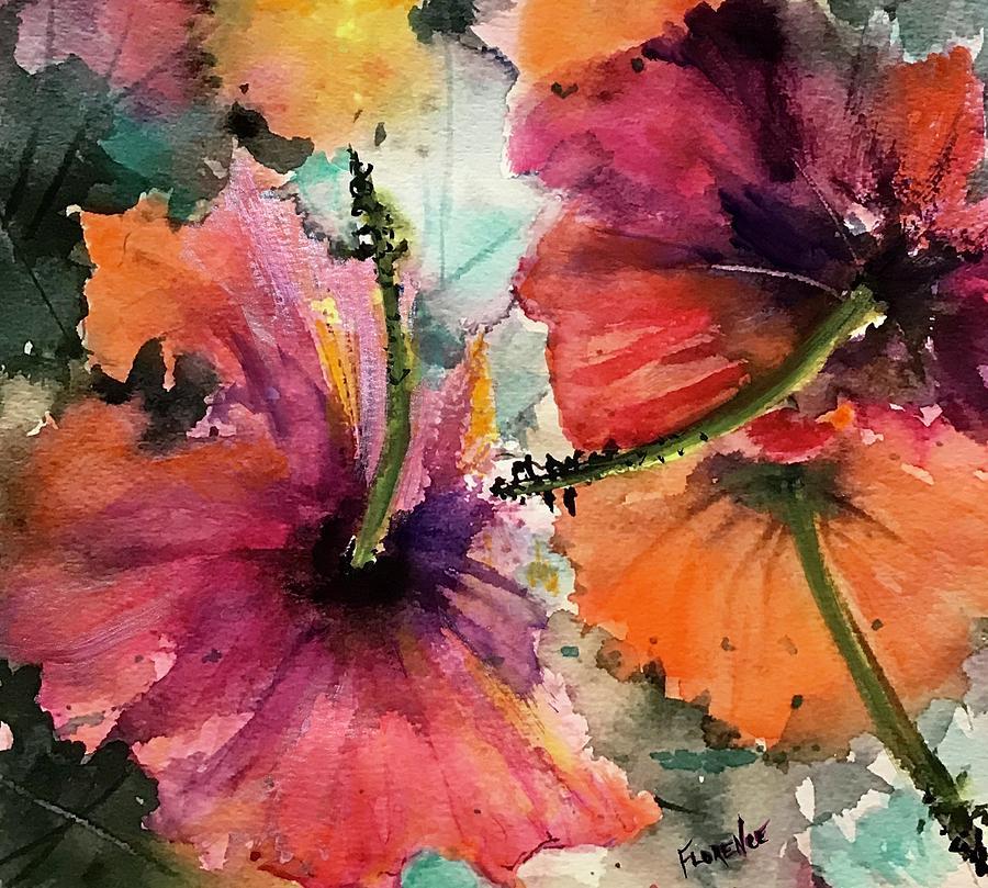 Hibiscus  by Florence Ferrandino