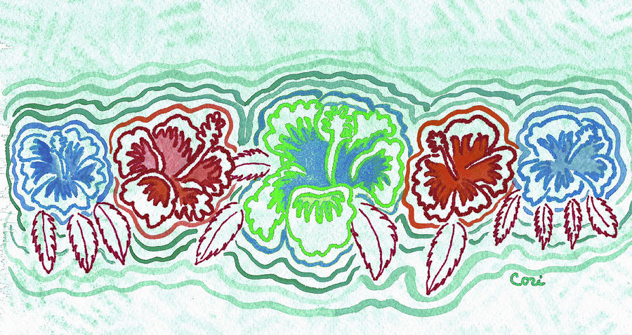 Hibiscus Green by Corinne Carroll