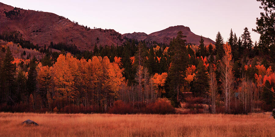 Landscape Photograph - Hidden Autumn Cabin In The Valley Of Hope by Mike Herron