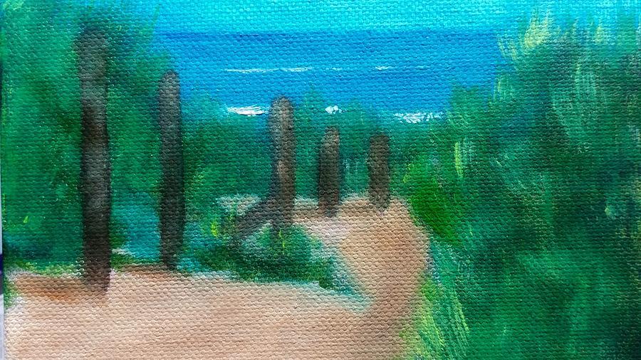 Hidden Beach Painting by George Dalton