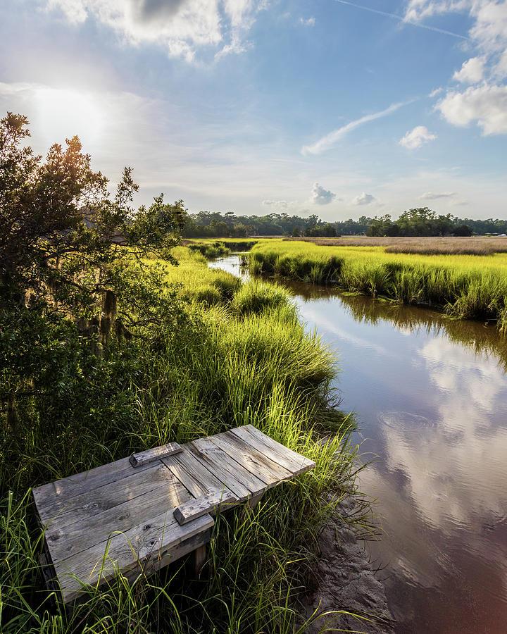 Fishing Photograph - Hidden Dock by Drew Castelhano