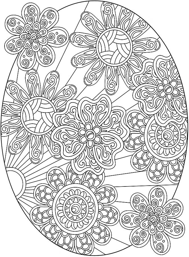 Coloring Books Drawing - Hidden Images Book A - 19 by Kathy G. Ahrens