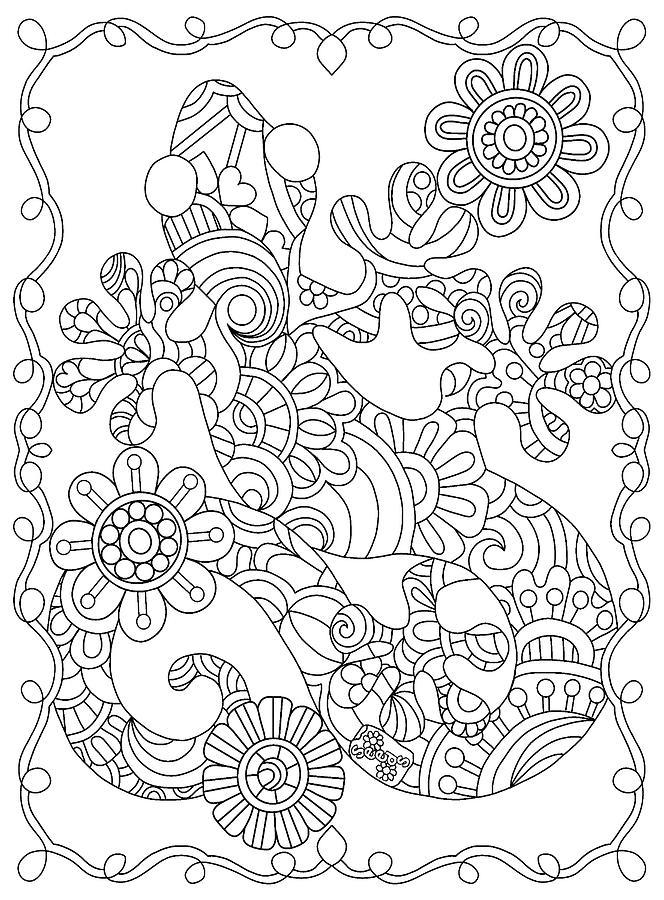 Coloring Books Drawing - Hidden Images Book A - 24 by Kathy G. Ahrens