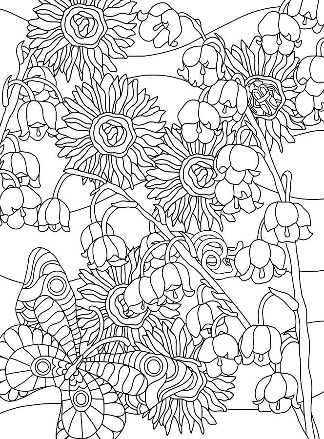 Coloring Books Drawing - Hidden Images Book A - 28 by Kathy G. Ahrens