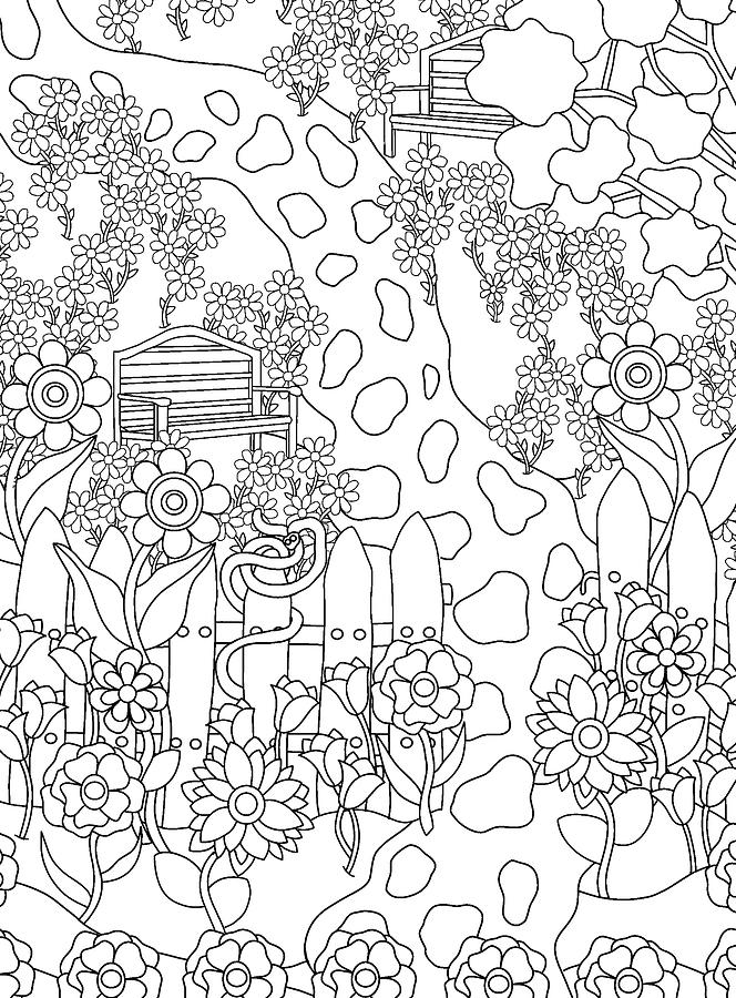 Coloring Books Drawing - Hidden Images Book A - 35 by Kathy G. Ahrens