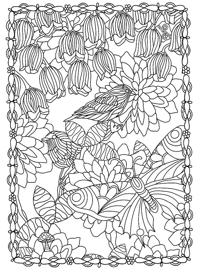 Coloring Books Drawing - Hidden Images Book A - 42 by Kathy G. Ahrens