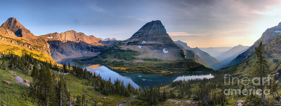 Hidden Lake Alpenglow Panorama by Adam Jewell
