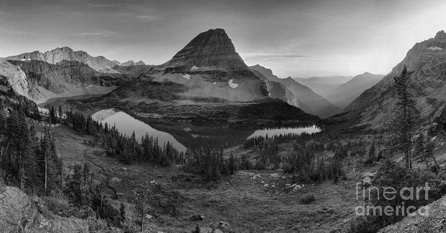 Hidden Lake Summer Gold Black And White by Adam Jewell