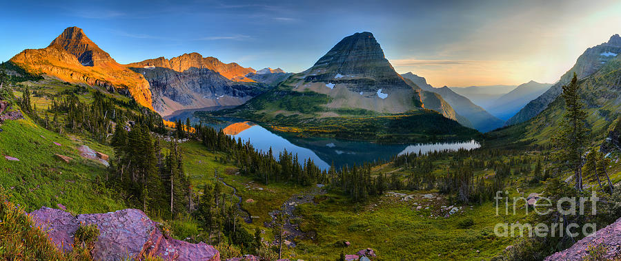 Hidden Lake Sunset Perfection Panorama by Adam Jewell