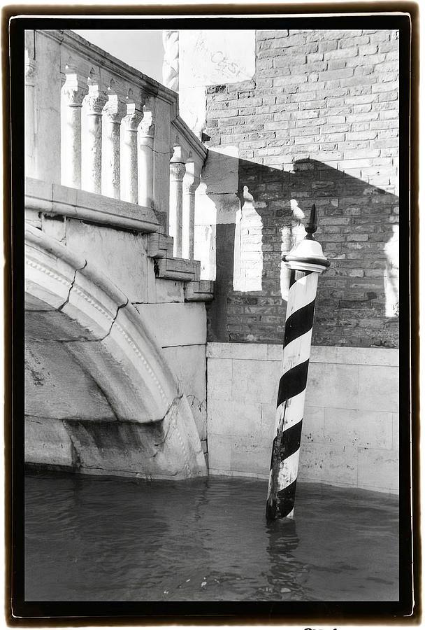 Black Painting -  Hidden Passages Venice Vii    by Laura DeNardo