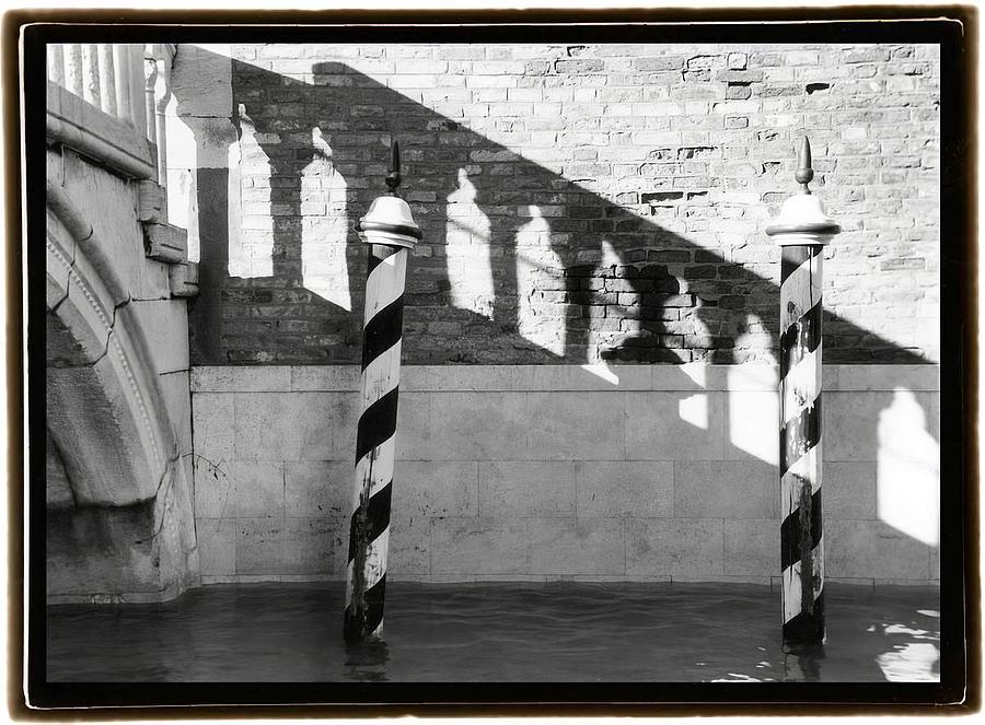 Black Painting -  Hidden Passages Venice Viii    by Laura DeNardo