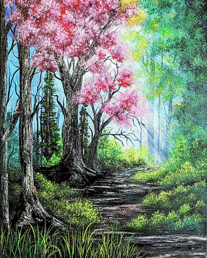 Landscape Painting - Hidden Rays by Teri Lindley
