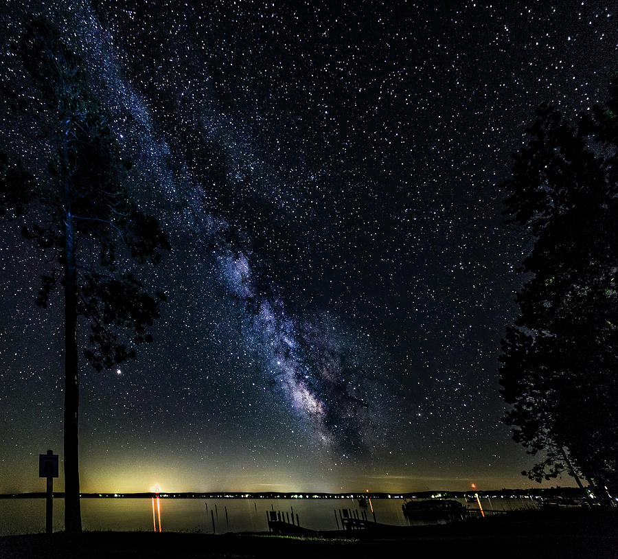 Higgins Lake North State Park with a lot of milky way by Joe Holley