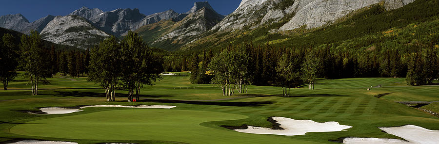 Horizontal Photograph - High Angle View Of A Golf Course, Mt by Panoramic Images