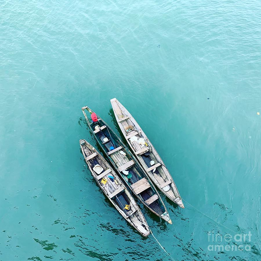 High Angle View Of Ship Moored On Sea Photograph by Boubacar Issa  Oumar  / Eyeem