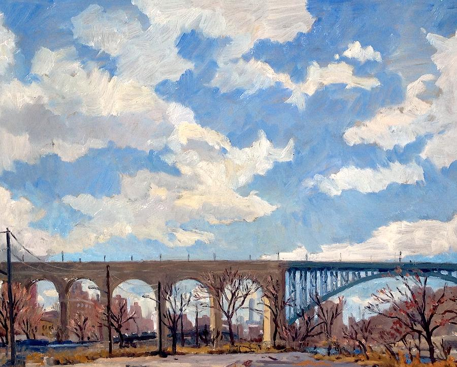 High Bridge Bright Sky NYC by Thor Wickstrom