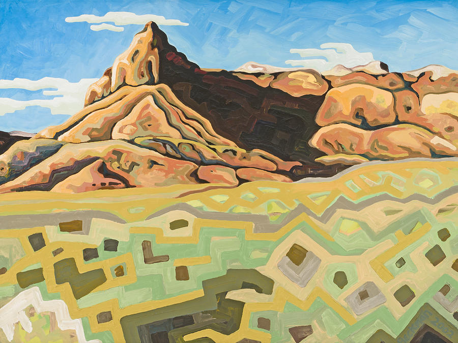 Dale Beckman Painting - High Desert Mesa by Dale Beckman