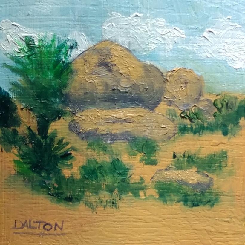 Desert Painting - High Desert Rock Garden by George Dalton