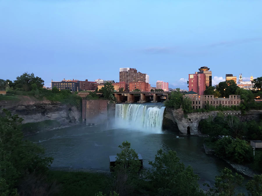 High Falls Twilight by Aimee L Maher ALM GALLERY
