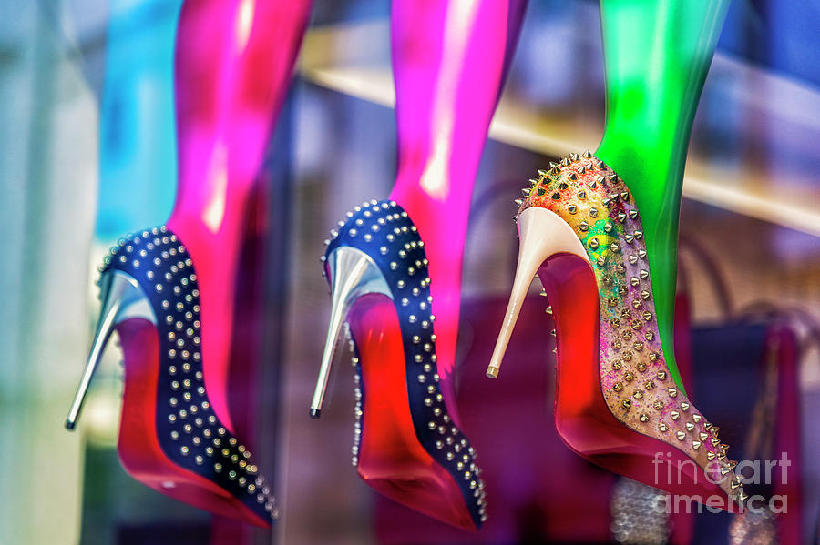 High Heels In Window Display Photograph by Westend61