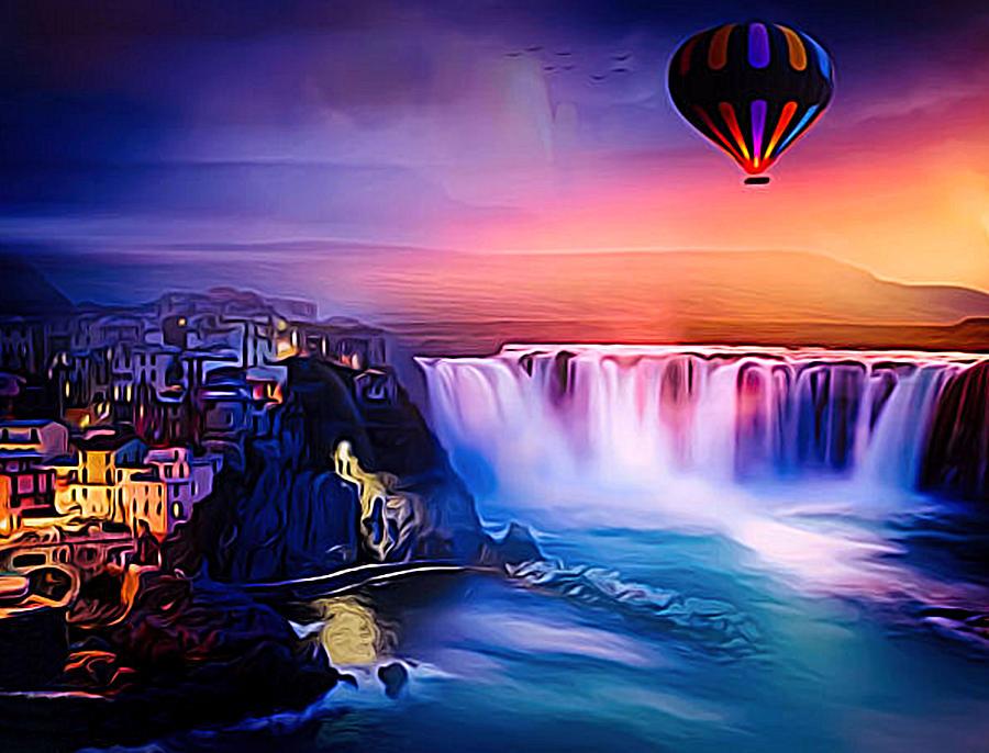 Water Digital Art - High In The Air by Jasmina Seidl
