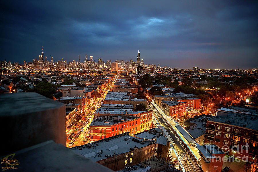 Chicago Photograph - High In The Sky II by Bruno Passigatti