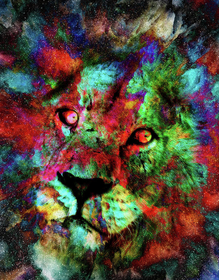 High Intensity Lion by Kay Brewer