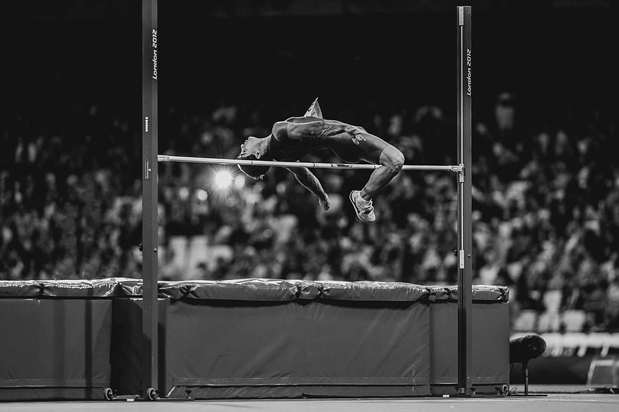 Action Photograph - High Jump by Darko Pavlovic