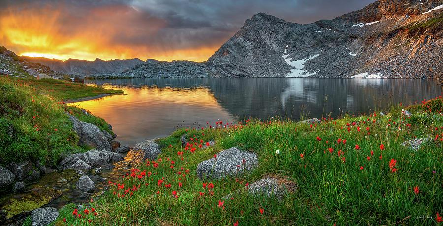 Altitude Photograph - High Mountain Morning In Idaho by Leland D Howard