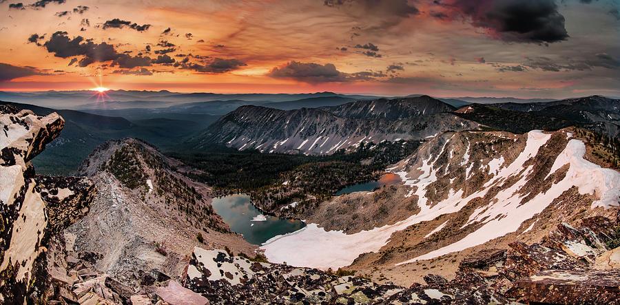 High Mountain Morning Light Montana by Leland D Howard