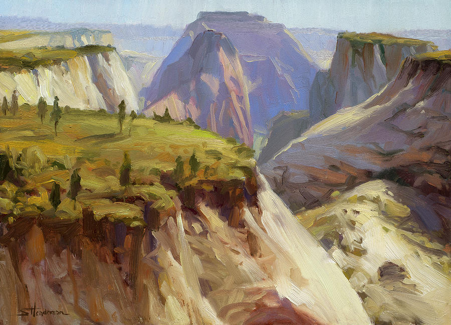 Zion Painting - High On Zion by Steve Henderson