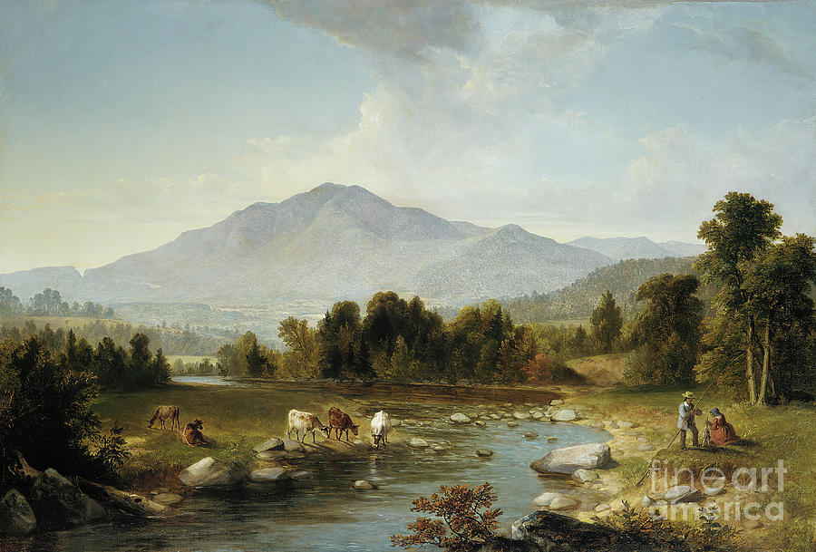 High Point Shandaken Mountains Drawing by Heritage Images