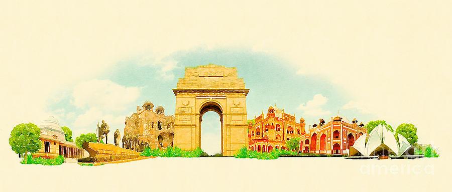 Mumbai Digital Art - High Resolution Water Color by Trentemoller