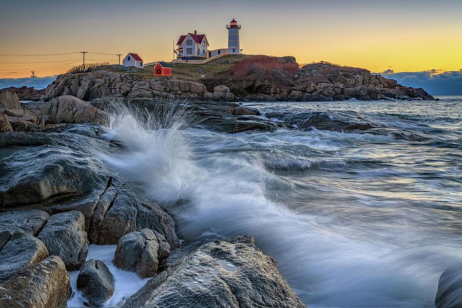 High Tide at Cape Neddick December 2018 by Rick Berk