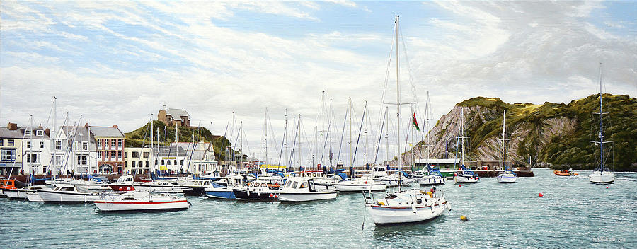 High Tide, Ilfracombe Harbour by Mark Woollacott