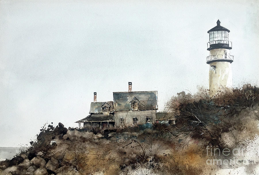 Ma. Painting - Highland Lighthouse by Monte Toon