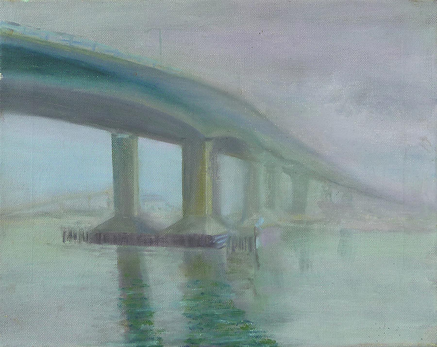 Bridge Painting - Highlands Bridge by Lois Bajor