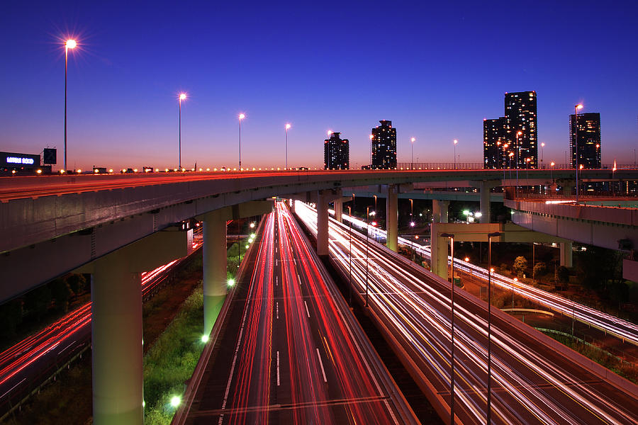 Highway At Night Photograph by Takuya Igarashi