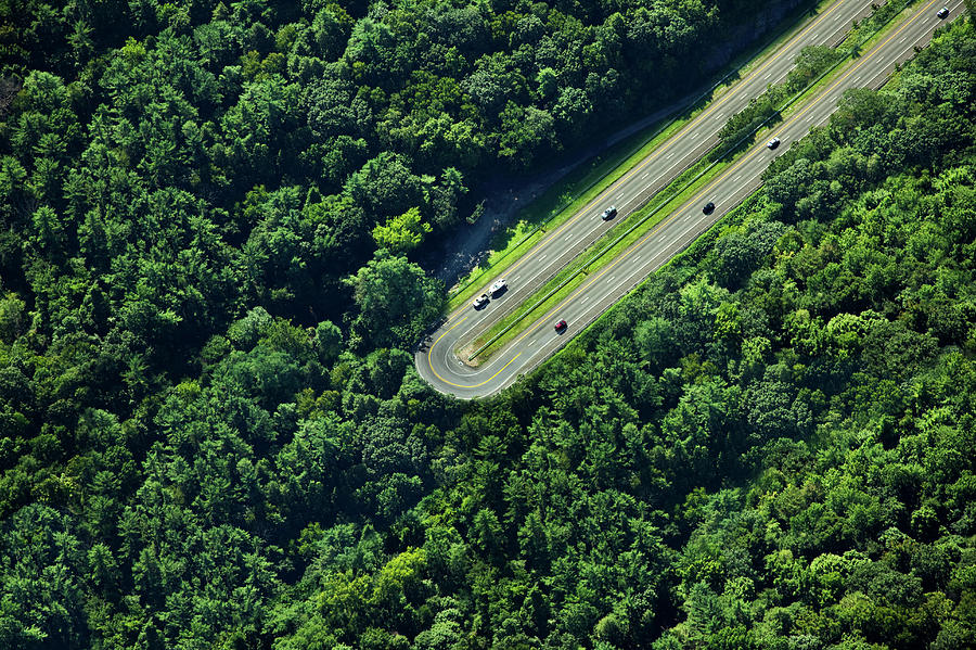 Highway U-turn In Forest Photograph by Thomas Jackson