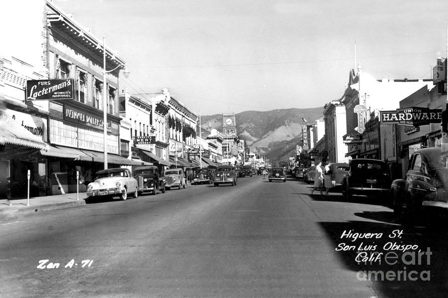 Higuera Street, San Luis Obispo Circa 1949 by California Views Archives Mr Pat Hathaway Archives