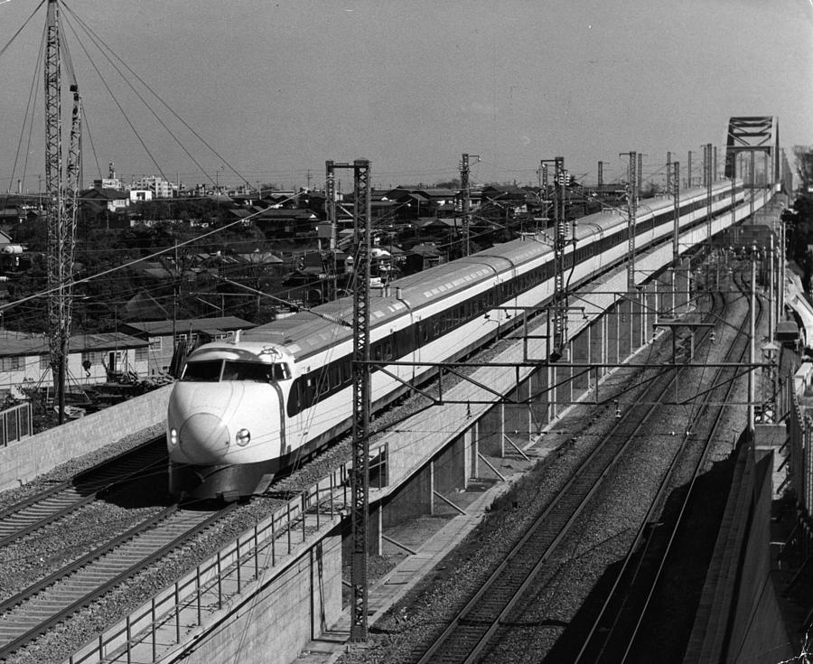 Hikari Train Photograph by Three Lions
