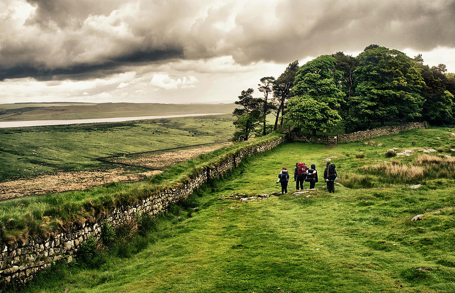 Hiking Hadrians Wall Photograph by Richlegg