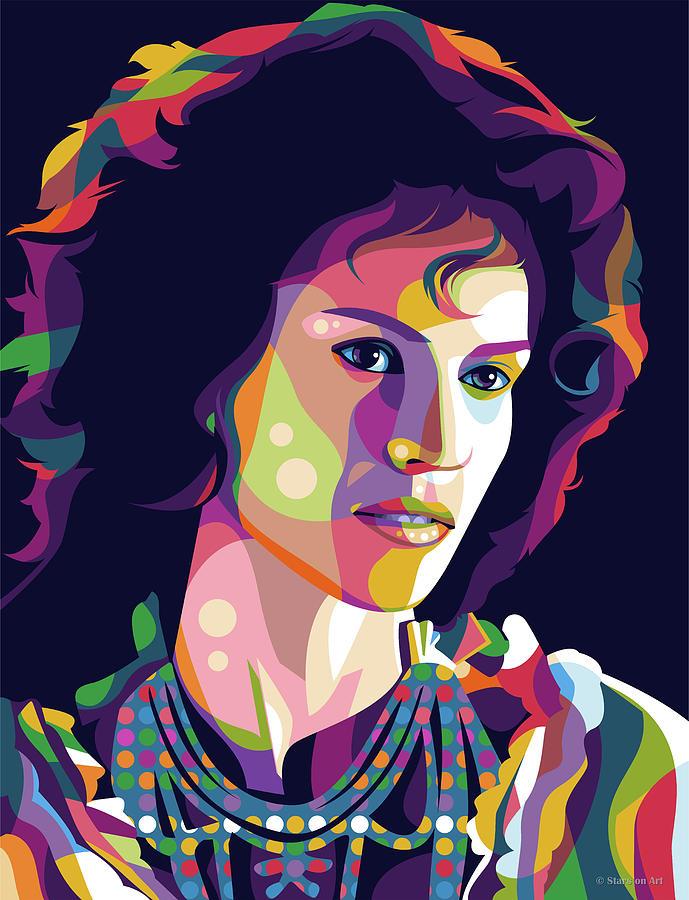 Hilary Swank Digital Art