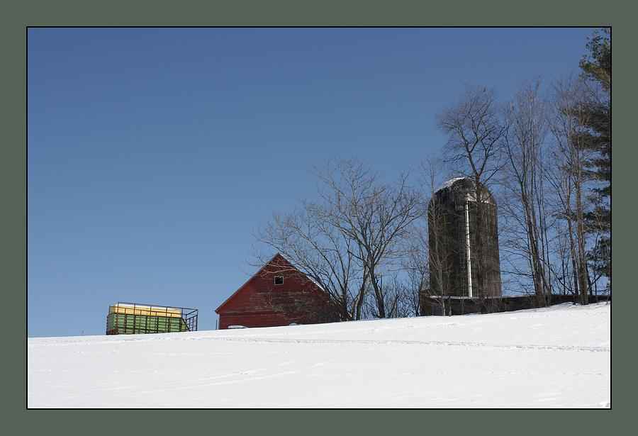Rural Photograph - Hill Farm In Snow by David Wilde